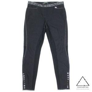 AllSaints Leather Trim Button Ankle Trouser Pants